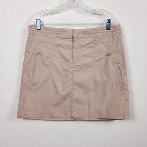 Ann Taylor Loft Mini Skirt Khaki Size 10